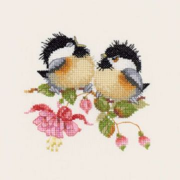Fuchsia  Chick-Chat by Valerie Pfeiffer Cross Stitch Kit